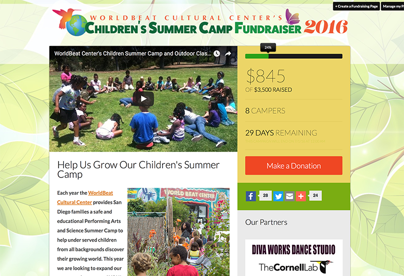 WBC Children's Summer Camp Fundraiser 2016